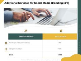 Additional Services For Social Media Branding Ppt Powerpoint Graphic Design