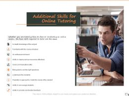Additional Skills For Online Tutoring Ppt Powerpoint Presentation Layouts Graphic Images