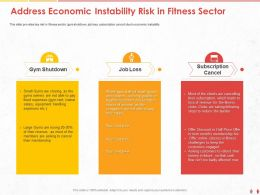 Address Economic Instability Risk In Fitness Sector Loss Ppt Powerpoint Presentation Styles Images