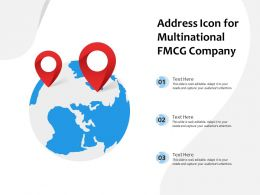Address Icon For Multinational FMCG Company