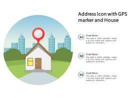 Address Icon With GPS Market And House