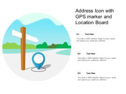 Address Icon With GPS Market And Location Board