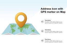 Address Icon With GPS Market On Map