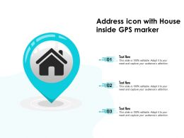 Address Icon With House Inside GPS Market
