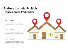 Address Icon With Multiple Houses And GPS Market