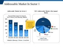 Addressable Market In Sector Ppt Examples Professional