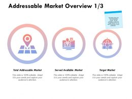 Addressable Market Overview Target Ppt Powerpoint Presentation Themes