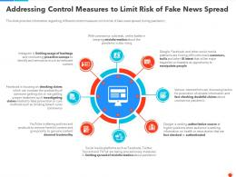 Addressing Control Measures To Limit Risk Of Fake News Spread Ppt Background