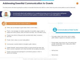 Addressing Essential Communication To Guests Ppt Powerpoint Presentation Guide