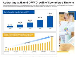 Addressing MRR And GMV Growth Of Ecommerce Platform Ecommerce Platform Ppt Inspiration