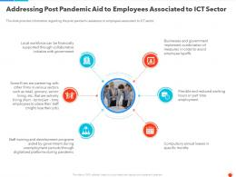 Addressing Post Pandemic Aid To Employees Associated To ICT Sector Ppt Infographics