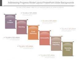 Addressing Progress Model Layout Powerpoint Slide Backgrounds