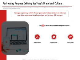 Addressing Purpose Defining Youtubes Brand And Culture Ppt Pictures Ideas