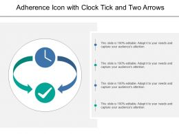 Adherence Icon With Clock Tick And Two Arrows