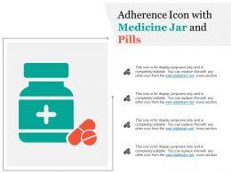 Adherence Icon With Medicine Jar And Pills