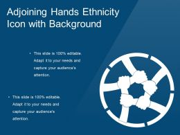 Adjoining Hands Ethnicity Icon With Background