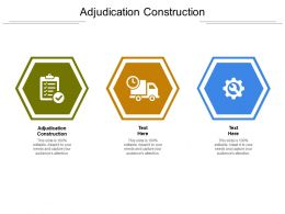 Adjudication Construction Ppt Infographic Template Brochure Cpb