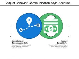 Adjust Behavior Communication Style Account Consolidation Set Targets