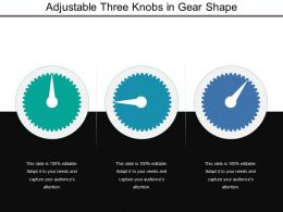 Adjustable Three Knobs In Gear Shape