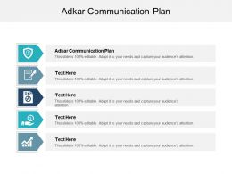 ADKAR Communication Plan Ppt Powerpoint Presentation Inspiration Example Cpb