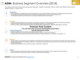 ADM Business Segment Overview 2018