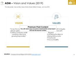 ADM Vision And Values 2019