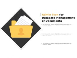 Admin Icon For Database Management Of Documents