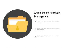 Admin Icon For Portfolio Management