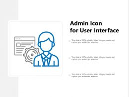 Admin Icon For User Interface