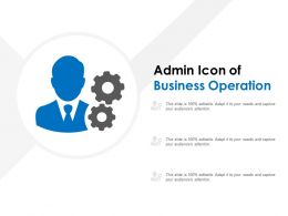 Admin Icon Of Business Operation