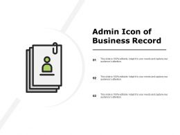 Admin Icon Of Business Record