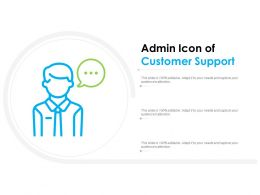 Admin Icon Of Customer Support
