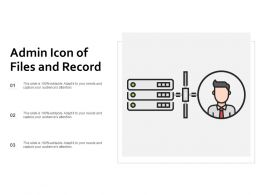 Admin Icon Of Files And Record