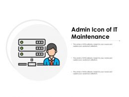 Admin Icon Of It Maintenance
