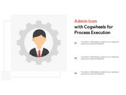 Admin Icon With Cogwheels For Process Execution