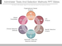 Administer Tests And Selection Methods Ppt Slides
