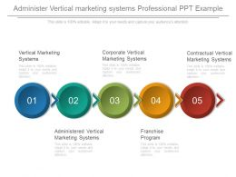 Administer Vertical Marketing Systems Professional Ppt Example