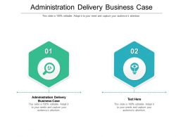 Administration Delivery Business Case Ppt Powerpoint Presentation Infographic Template Cpb