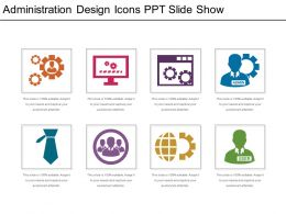 Administration Design Icons Ppt Slide Show
