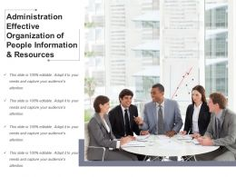 Administration Effective Organization Of People Information And Resources