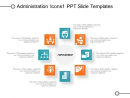 Administration Icons 1 Ppt Slide Templates
