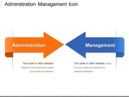 Administration Management Icon Ppt Slide Templates