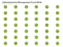Administration Management Icons Slide Administration Management Ppt Portrait