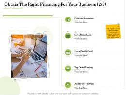 Administration Management Obtain The Right Financing For Your Business Crowdfunding Ppt Inspiration