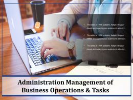 Administration Management Of Business Operations And Tasks