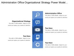 Administration Office Organizational Strategy Power Model Sales Department