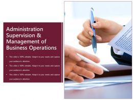 Administration Supervision And Management Of Business Operations