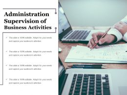 Administration Supervision Of Business Activities