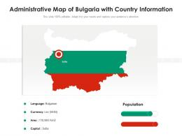 Administrative Map Of Bulgaria With Country Information
