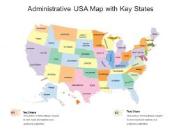 Administrative USA Map With Key States